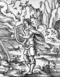 Orphée. Gravure de Virgil Solis.Fragment. Source : cliquer