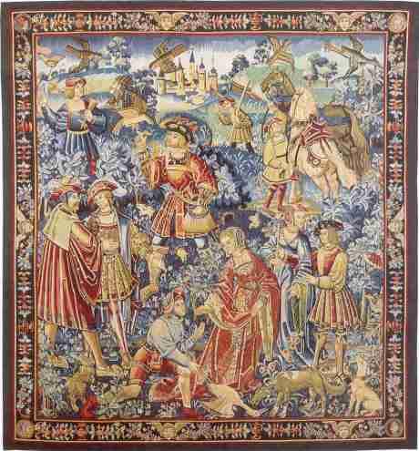 La Chasse au Faucon - Tapisserie du 16ieme siècle.