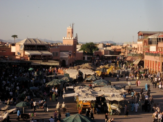 Place Djemaa el Fnaa, Marrakech.