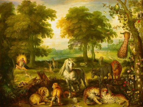 Pieter Brueghel Le Jeune (1564-1636) - Le Paradis Terrestre.