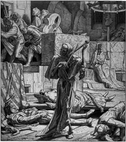 La Mort - Alfred Rethel, XIXe siècle - lien sur l'image.
