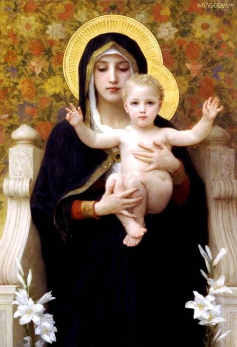 La Vierge au Lys, tableau de William Bouguereau - 1899.