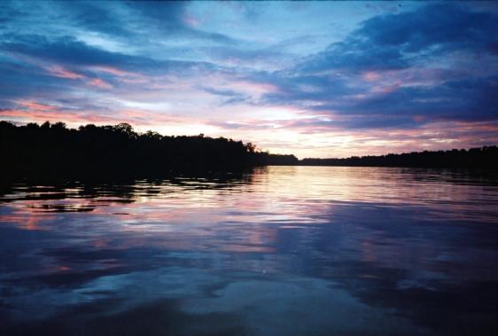 L'Orénoque au coucher du soleil.