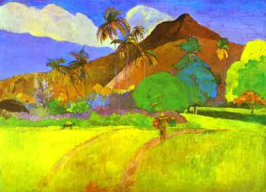 Paysage tahitien - Paul Gauguin.