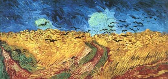 Champ de Blé aux Corbeaux, tableau de Vincent Van Gogh.
