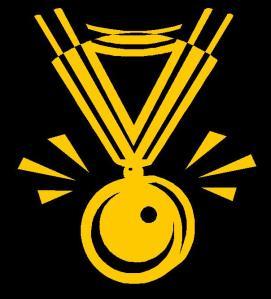 Joan de Blow wearing The Nobel Prize Gold Medal for Literature. Detail.