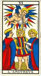 L'arcane VI (6), Tarot de Marseille.