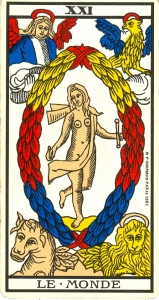 Arcane 21 (XXI), Tarot de Marseille.