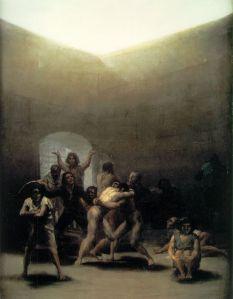 Le Pavillon des Lunatiques (yard with Lunatics) - Francisco Goya - 193-1794.