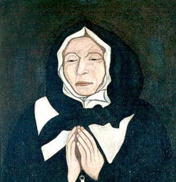 Le vrai portrait de Marguerite Bourgeoys - un tableau peint rapidement en 1700, en Nouvelle-France, par Pierre le Ber, au chevet de Marguerite qui vient de décéder. Le tableau a été redécouvert à la faveur d'une restauration en 1963-1964, étouffé sous des fausses couches de portraits dits de Marguerite Bourgeoys. C'est