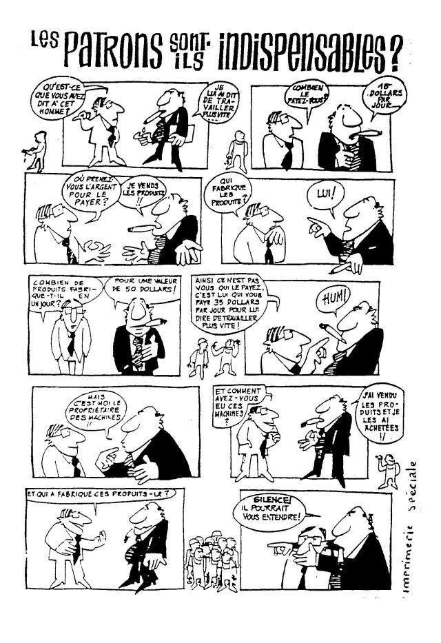 Bande dessinée, Mais 68, Patrons-ouvriers, qui doit payer qui?...