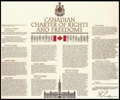 """La Charte canadienne et constitutionnelle des droits et libertés de 1982. Le pouvoir dérogatoire, la loi d'habilitation canadienne, est l'article 33. Ironiquement, ça n'est pas sans évoquer """"1933"""". Ou le 33ième degré franc-maçonnique. C'est fortuit, évidemment. Cliquer: elle gonfle."""