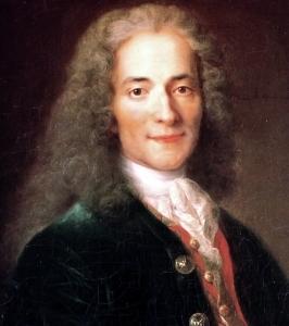 Portrait de François-Marie Arouet, dit Voltaire (1694–1778). Le tableau a été peint par Catherine Lusurier (vers 1753-1781), d'après le tableau de Nicolas de Largillière (1656-1746).