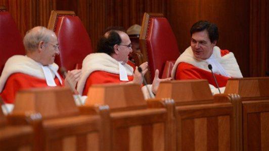 Trois des neufs juges de la Cour suprême du Canada