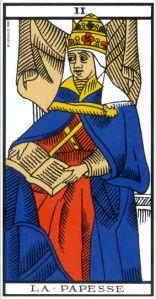 La Papesse, l'arcane II (2) du Tarot de Marseille