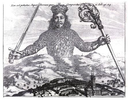 Fragment de la gravure de Abraham Bosse pour l'édition originale de «Léviathan» (1651) de Thomas Hobbes (1588 – 1679).