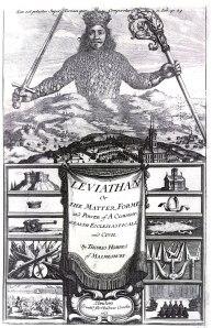 Gravure de Abraham Bosse pour l'édition originale de Léviathan (1651) de Thomas Hobbes (1588 – 1679).