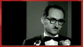 Henry Morgentaler en 1967, au moment où il lançait sa croisade pour l'avortement libre et gratis sur demande. Extrait d'un reportage de la CBC.