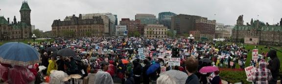 Manifestation en faveur de la Vie et contre l'interdiction de naître, Ottawa, Canada, 2010.