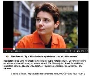Caroline Fourest, auteur, militante féministe et militante lesbienne. Selon elle, on aurait exterminé 6 000 000 de juifs en France. Un certain sourire qui me rappelle celui de Woody Woodpecker.