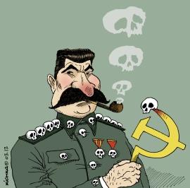 Staline. Caricature par Kichka. Copyright 2013 Kichka. Source : cliquer.