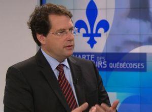 Bernard Drainville, ministre des institutions démocratiques et de la participation citoyenne qui pilote le projet de Charte des