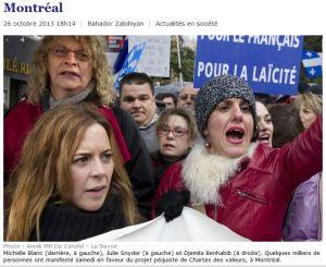 Janettes manifestent a Montreal_26Oct2013_Benhabib_etc_Le Devoir