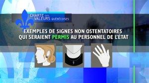 Signes non interdits par l'État québécois ..