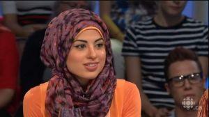 Dalila Awada, musulmane pratiquante, née au Québec.