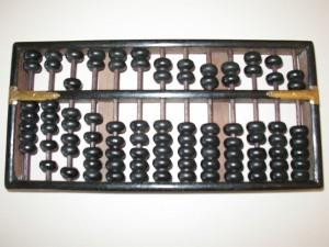 Abaque (abacus -- boulier-compteur).