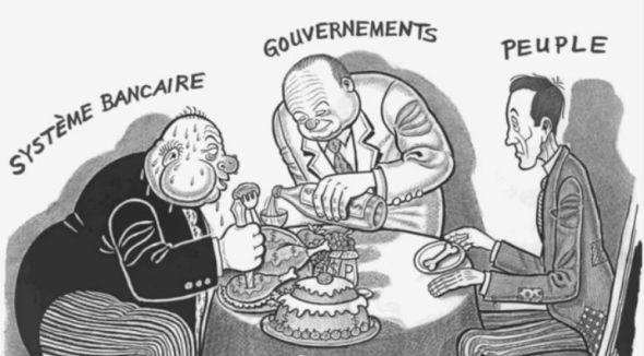 Caricature_cartoon_Banquiers_Gouvernements_Peuple