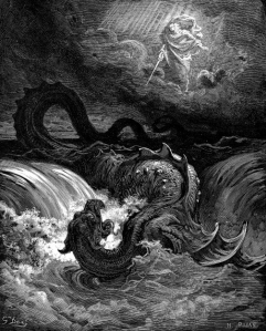 La destruction du Léviathan, illustration de Gustave Doré, 1865