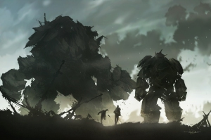 Golem_vs_Mech_by_keepwalking07