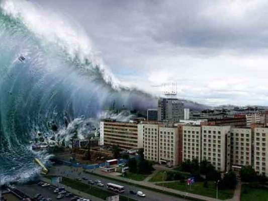 Tsunami. Quelques pieds en plus en moins ..