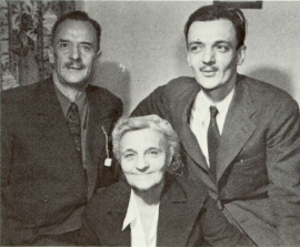 De gauche à droite : Arthur Laurendeau et Blanche Hardy, père et mère  d'André Laurendeau, à droite. Photo tirée de l'ouvrage de Denis Monière, «André Laurendeau et le destin du Québec».  (Source : cliquer.)