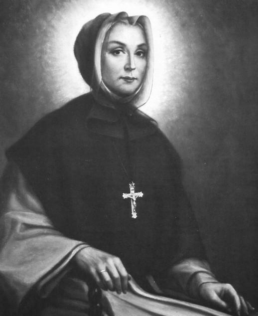 Marie-Marguerite d'Youville portait le hijab. Et ici, une croix chrétienne