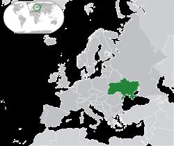 En vert : l'Ukraine.