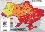 Ukraine : une carte des langues parlées à la maison.