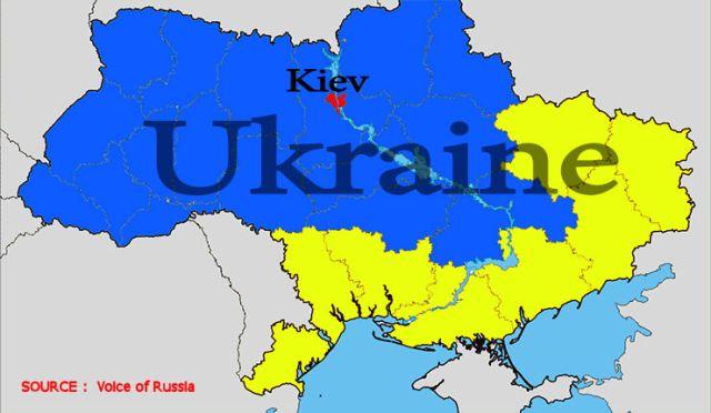 Une représentation cartographique du projet de la Novorossiya, de la Nouvelle Russie.