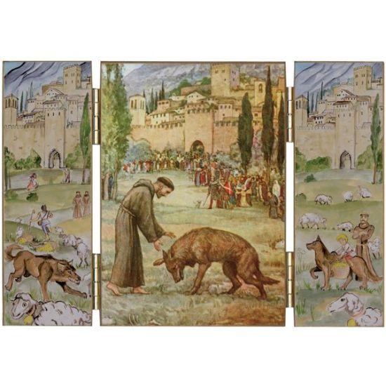 François d'Assise et le Loup, tryptique de Gubbio.