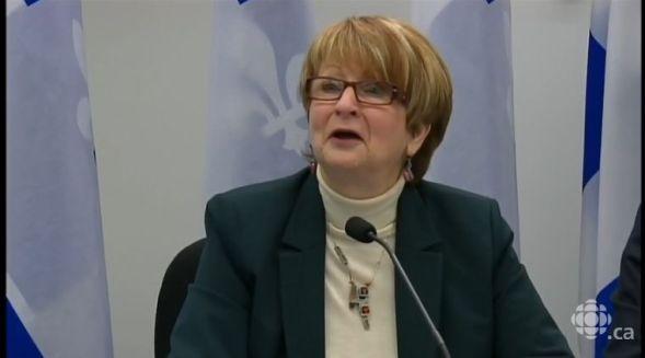 Lucienne Robillard, la présidente de la Commission de révision permanente des programmes