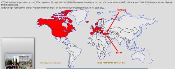 Les États de l'Otan. La Turquie est membre de l'Otan.