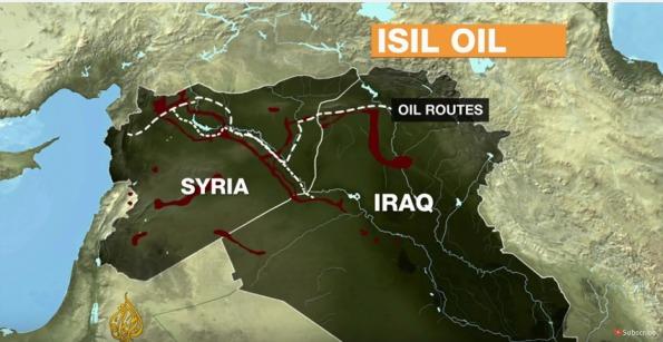 Il existerait des corridors contrôlés et empruntés par Daesh au Nord de la Syrie mais qui ne semblent pas aboutir à la mer. Par ailleurs, selon toute vraisemblance, ce traffic ne peut se faire sans la tolérance ou la complicité de la Turquie -- en tout cas certainement avec celles du régime Assad. D'après cette carte (Al Jazeera, décembre 3015), les corridors aboutissent au Nord.